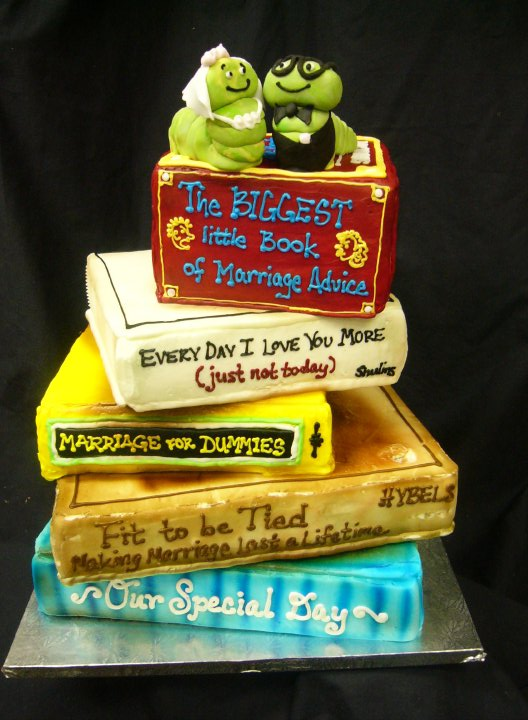 Bookworm Wedding Cake