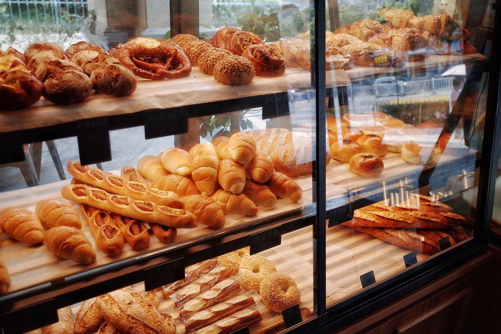 Bread in window